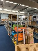 Thirty Six bays of light duty galvanised racking to include 52 x 2m - 60cm uprights, 138 shelves &