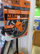Thatcham Nemesis ultra wheel bolt receiver lock c/w carry case & display stand (ex-display)