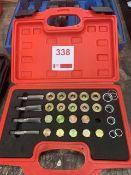 A 64pcOil drain plug repair kit in case