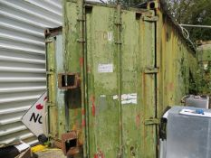 30' shipping container *collection Thursday 23rd August only NOTE A work Method Statement and Risk
