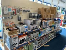 Contents of four display units to include cooking set, cook kits, griddle, mess tins, flask, mugs,