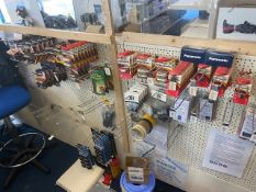 Contents of display unit to include a quantity of Duracell & Panasonic batteries as lotted