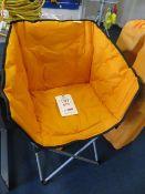 Kampa orange tub folding chair (ex-display)