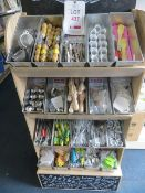 Contents of display unit to include kitchen essentials, salt pots, wisp, brushes, timer, mini