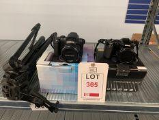 Samsung WB5000 12.5 MP Digital Camera & Nikon Coolpix L310 digital camera plus a Velbon DF-61 Tripod