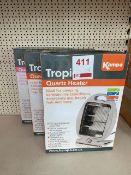 Three Kampa Quartz heaters