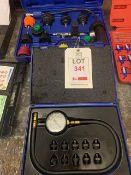 Sump pressure test plus a radiator test kit