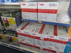 Contents of three display units to include Fiamma, Leisurewize & Thetford chemical toilets and