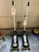 Two 3 Ton trolley jacks