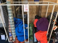 Display Stand c/w contents to include Display Sleeping Bags and two Wind Breaks