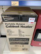 Leisurewize portable Butane cabinet heater (boxed)