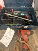 Bosch GSB21-2 RE hammer drill in case plus air drill/socket gun