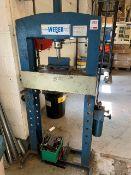 Weber Hydraulic man op Press KFP15 15TOn cap. Y.O.M 1988 Press H1187