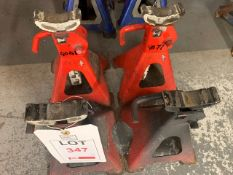 Two sets of 2 Ton axle stands (short reach)