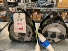 Two used extension reels with lights