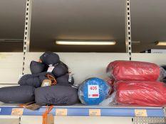 Twelve Vango foldaway pillows, five Vango Trek freestanding self inflating mat