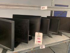 """Nine various monitors 19"""" VGA only"""