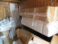 Contents of container to include 2 x approx 8m-4m marques and various used motorhome awnings fridges