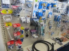 Contents of 5 display units to include a large quantity of motor home/caravan water taps, bathroom