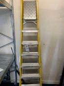 A 7 tread set of 'A' frame ladders