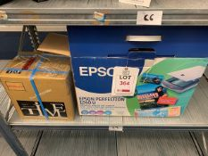 Epson 1240V scanner and a Time clock recorder