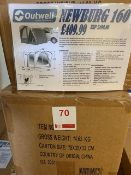 Outwell Newburg 160 drive away fibre glass poled awning for campervans (Boxed)