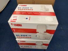 Two Fiamma BI-Pot 30 toilets