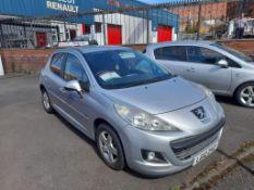Peugeot 207 1.4 Sportium 5-door hatchback Registration no. LG12 ZVZ Date of registration: 09/03/2012