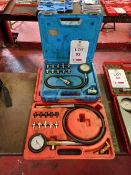 Sealey 12-piece oil pressure test kit and 1 other