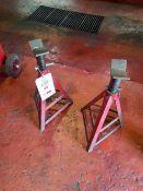 2 medium duty axle stands