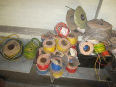 Quantity of assorted wire reels