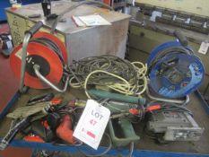 Performance Power 240v jigsaw, Bosch PHG520 heat gun, soldering iron, Amtech 130w rotary drill, GS