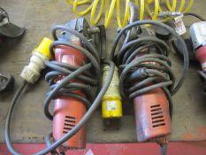 Two Hilti DAG-1255, 110v angle grinders