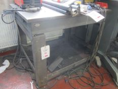 Steel plate workbench, 900 x 1200mm. A work Method Statement and Risk Assessment must be reviewed