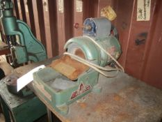 AJH bench top grinding wheel, wheel size 150 x 38 x 63.50, max spindle speed 3000rpm