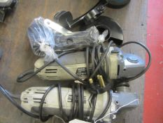 Two MacAllister MSAG750 angle grinders, 240v