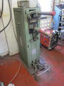 CEA KL116T spot welder, serial no. 42248 (1986). frequency 50/60 hz. max weld power 30.6 kva.