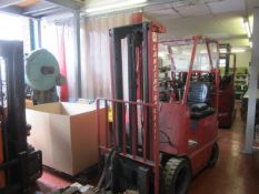 Lansing Bagnall 3024DLTM battery operated dual mast forklift truck, with side shift, serial no.