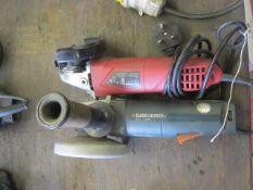Hyper Tough 240v angle grinder and a Black & Decker KG11 720v angle grinder (no cable)