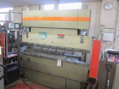 K & B 50T CNC down stroking press brake, 1 step, serial no. 153031732, type 50/F/2000. Cybele CPM
