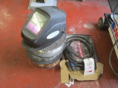 Quantity of assorted welding wire as lotted, welders mask & gun