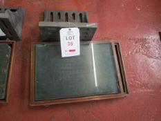 Steel face plate with Jones & Shipman glass, glass plate size 320 x 500mm