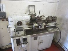 Smart & Brown M model lathe, 1 x 3 jaw and 2 x 4 jaw chucks, and quick change tool post. A work