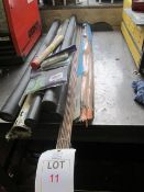 Quantity of assorted welding rods as lotted