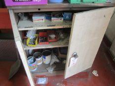Twin door steel storage cabinet