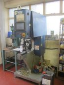 PEMSerter Series 2000 press, series 2000A, serial no. 2004 A 172, touch screen control, feeder