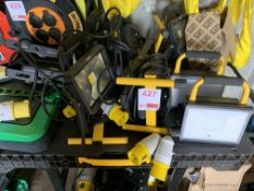 Approx. 12 Draper 110v site lamps and Scheider power supply *This lot is located at Gibbard