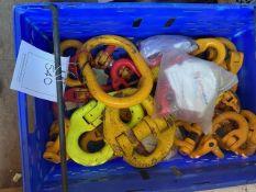 Box of various lifting connector shackles. *N.B. This lot has no record of Thorough Examination. The