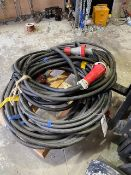 Two three phase high power extension leads length unknown * This lot is located at Unit 15,