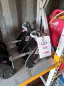 2 x Lifting Gear S.W.L 5000KGS beam clamps (90-130mm), serial numbers T21040763 & T21040755. *N.B.
